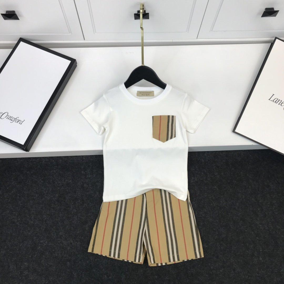 2.020 principio conjuntos de niños de calidad de la ropa los niños ropa de niño camiseta de las muchachas de los pantalones cortos 2pcs conjuntos 345-75220200323