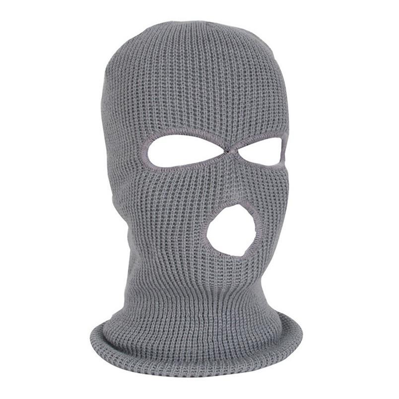 NOVA Máscara de Rosto Completo Máscara de Esqui Cap Inverno facemask Cap Balaclava Exército Tático 3 Buracos ciclismo de inverno # 4n26