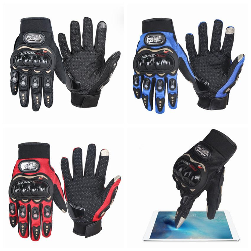Racing Gloves Men Motorcycle Gloves Protect Hands Full Finger Women Breathe Flexible Glove Touch Screen Sun Protection Gloves ZZA537