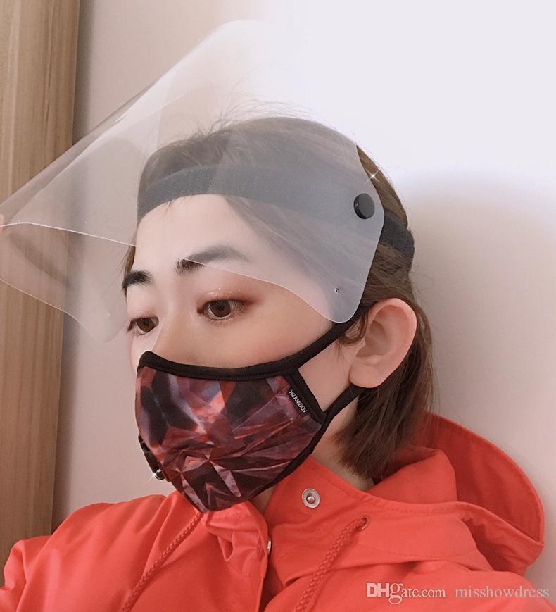 ACCIÓN US! FY8014 cara diseñador escudo transparente Máscaras de aislamiento anti-niebla de la cara llena del visera de protección evitar salpicaduras Protective Products