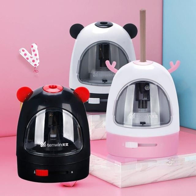 School Supplies s tenwin Electric Sharpener Multi-function Automatic Pencil Sharpener Cartoon Pencil Sharpener Stationery School Supplies