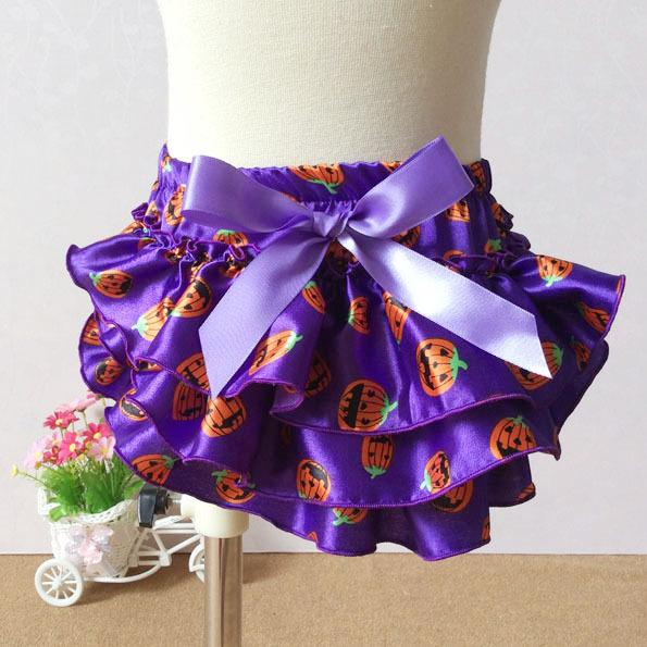 0-2 years shorts baby girl Halloween print pumpkin monster bloomers for newborn toddler infant