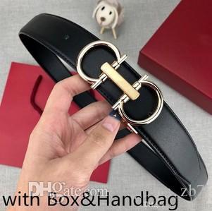 Cinturones para hombre correa correas de cuero de vaca hebilla de manera suave con letras de 6 colores Opción muy calidad con la caja
