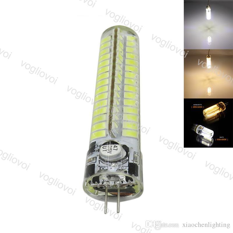 Lâmpadas LED SMD5730 G4 7W DC12V 120LED Quente Branco Milho Bulbo Lâmpadas de Silicone Cristal Chandelier Light Light DHL