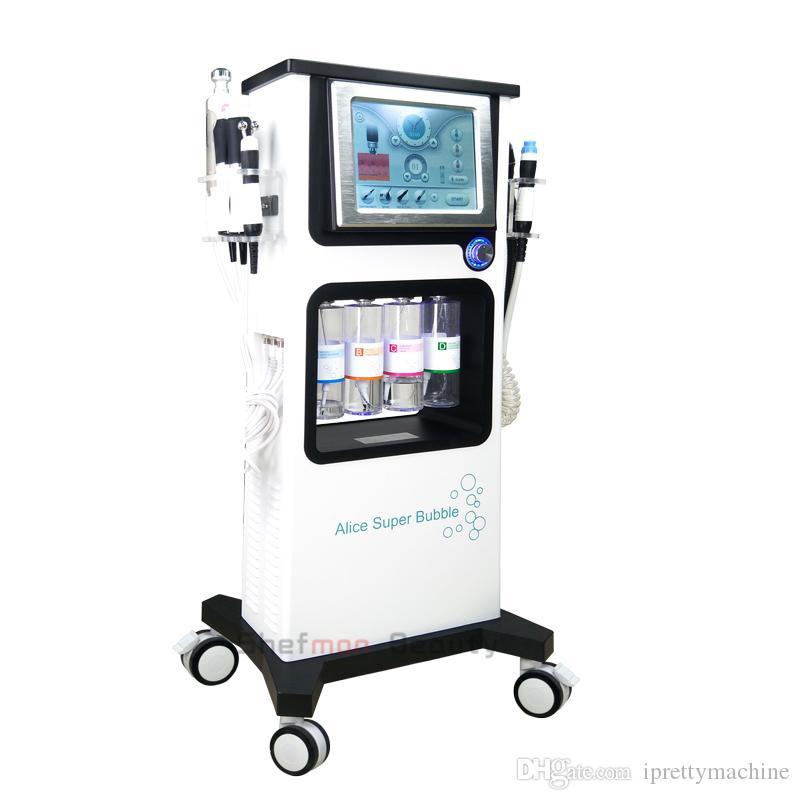 다기능 Hydrafacial 기계 히드라 얼굴 기계 박피술 캐비테이션 CO2 산소 스프레이 건 BIO RF 페이스 리프트 스킨 케어