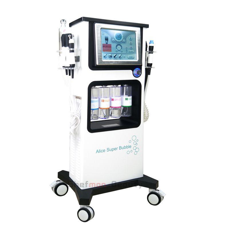متعددة الوظائف Hydrafacial آلة هيدرا آلة الوجه جلدي التجويف الأكسجين CO2 بندقية رش BIO RF شد الوجه العناية بالبشرة