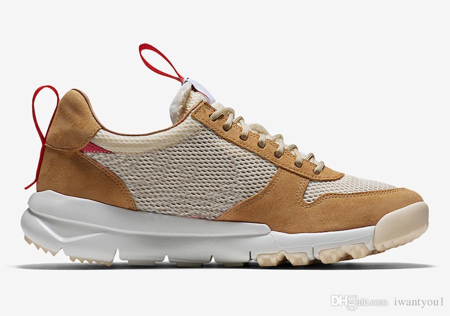 Tom Sachs x Mars Yard 2.0 TS Chaussures de course pour hommes Sport naturel, Érable rouge, Joint Limited, authentiques baskets AA2261-100, avec boîte d'origine 36-45.