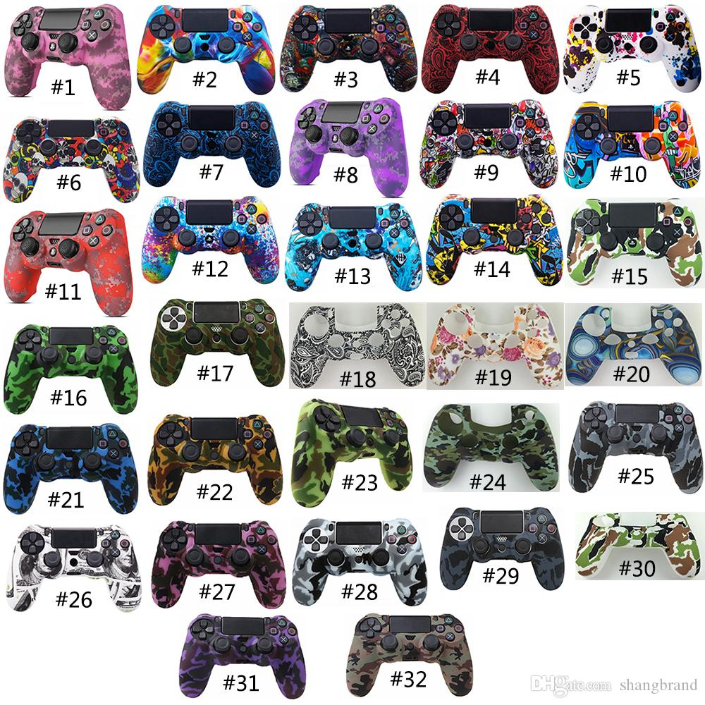 32 Colors Silicone Camo Protective Skin Case For Sony Dualshock 4 PS4 DS4 Pro Slim Controller