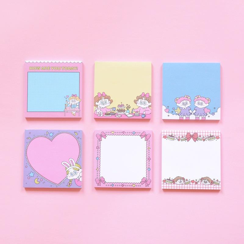 Kawaii Transparent Memo Pad Planner Stickers Notepad Paper Sticker Sticky Notes