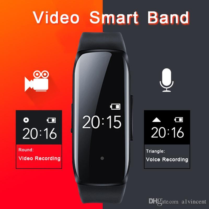 Nuevo 1080P Professinal cámara de la pluma de voz Audio Video Foto grabación de sonido Cam Smart Recorder banda de reloj de pulsera SmartBand