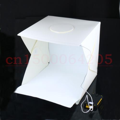 Freeshipping 40 cm Portátil Mini LED Photo Studio Box Fotografía Telón de fondo incorporado Alta luz Photo Box caja plegable plegable con fondo nuevo