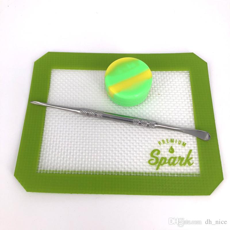 Tampons de cire de silicone tapis de tampographie 12.7cm * 10.3cm rectangle 6.5cm * 6 sexangle résistance à la chaleur tapis de cuisson anti-adhésif tapis de cuisson en silicone approuvé par la FDA