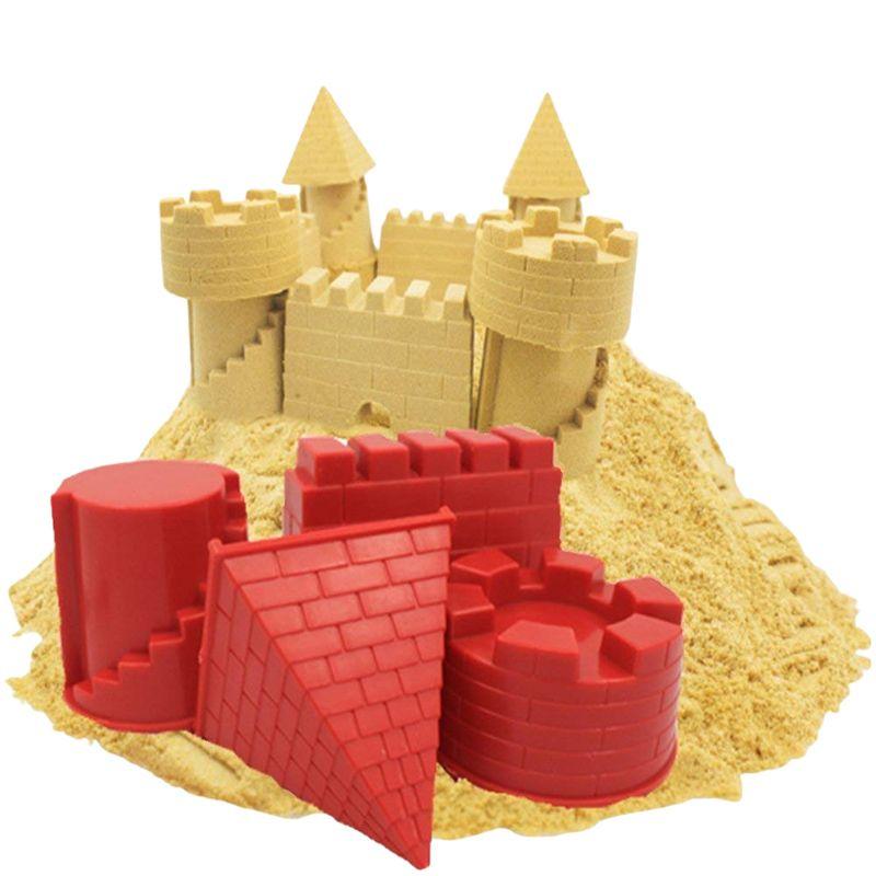 Творческий детский животных пирамида замок песок плесень Diy летний пляж набор инструментов классический воды играть игрушки для детей