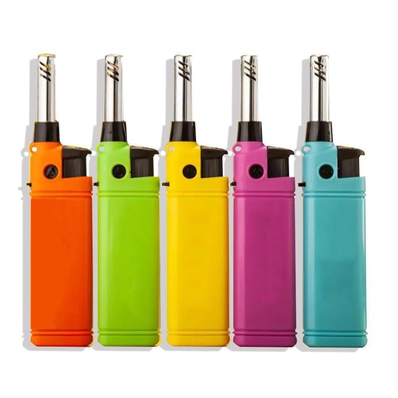 더 나은 5PCS은 / 미니 라이터 주방 캔들 BBQ 리필 플라스틱 부탄 가스 라이터 야외 화재 스타터를 설정