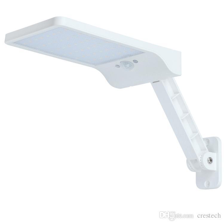 48 Led de luz solar al aire libre 1000lm Iluminación impermeable para la pared del jardín de dos ángulos giratorios de Polo solar lámpara de calle con 3 modos