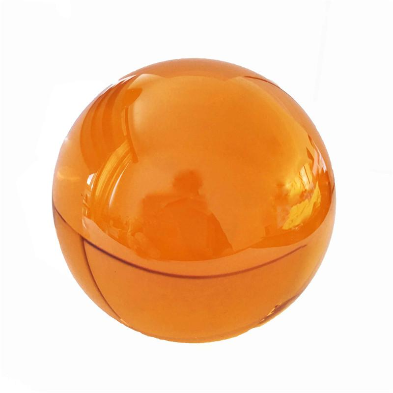 80mm Amber Wooden Stand Quartz Crystal Ball Magic Sphere Fengshui Glass Lucky Ball for Birthday Gifts