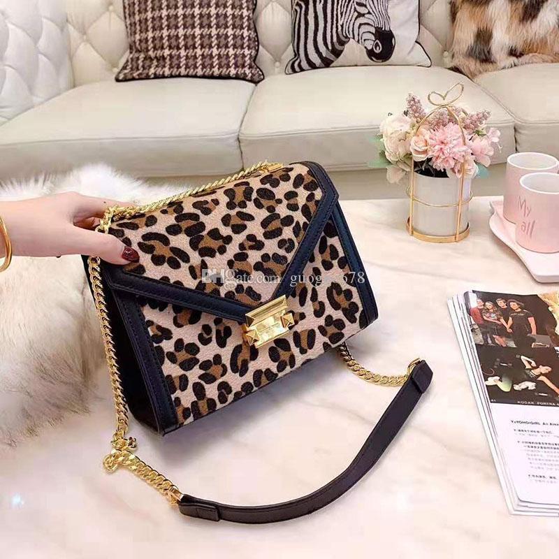 Пятнистый леопардовый Luxury сумки верхнего качества текстуры ткани Оборудование Crossbody мешок вскользь цепи плеча сумку кошелек