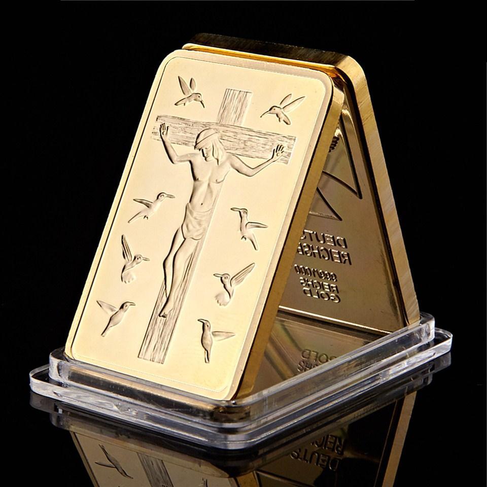 Христос Иисус Благослови Бог был 100 Милс Позолоченные 1oz Христос Сувенирные Подарки Искусство Ремесла Коллекционные монеты