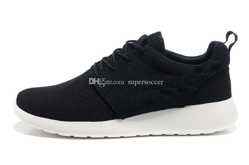 Correr Run Running Shoes Mulheres e Homens preto branco Runings Runing Shoe Athletic Tênis Ao Ar Livre um Tamanho 36-45