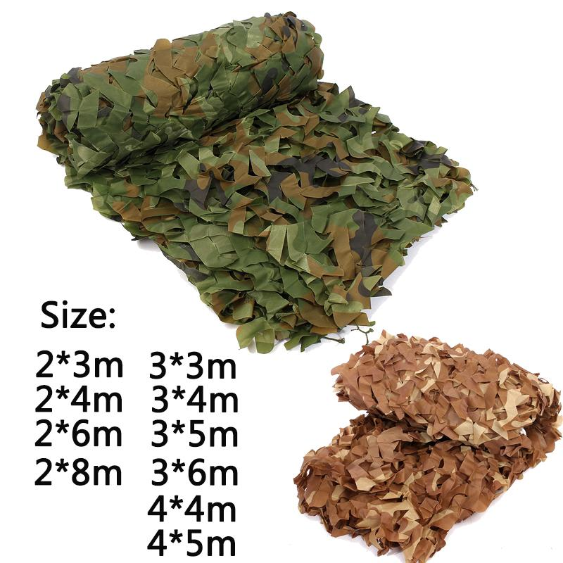 Camouflage Nets Army Training Tent Shade Outdoor Camping Hunting Shelter Hide Netting Car Covers Garden Bar Decoration