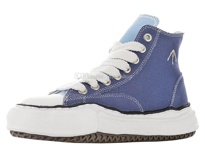 Stivali da uomo di marca Maison Mihara Yasuhiro in tela alta per stivali da donna Nigel Cabourn Sneakers con suola originali da uomo Scarpe da skate da donna Designer