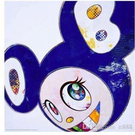 Takashi Murakami Y entonces .. Todo lo bueno y malo Decoración pintado a mano de la impresión de HD pintura al óleo sobre lienzo de arte cuadros de la pared de lona 191112
