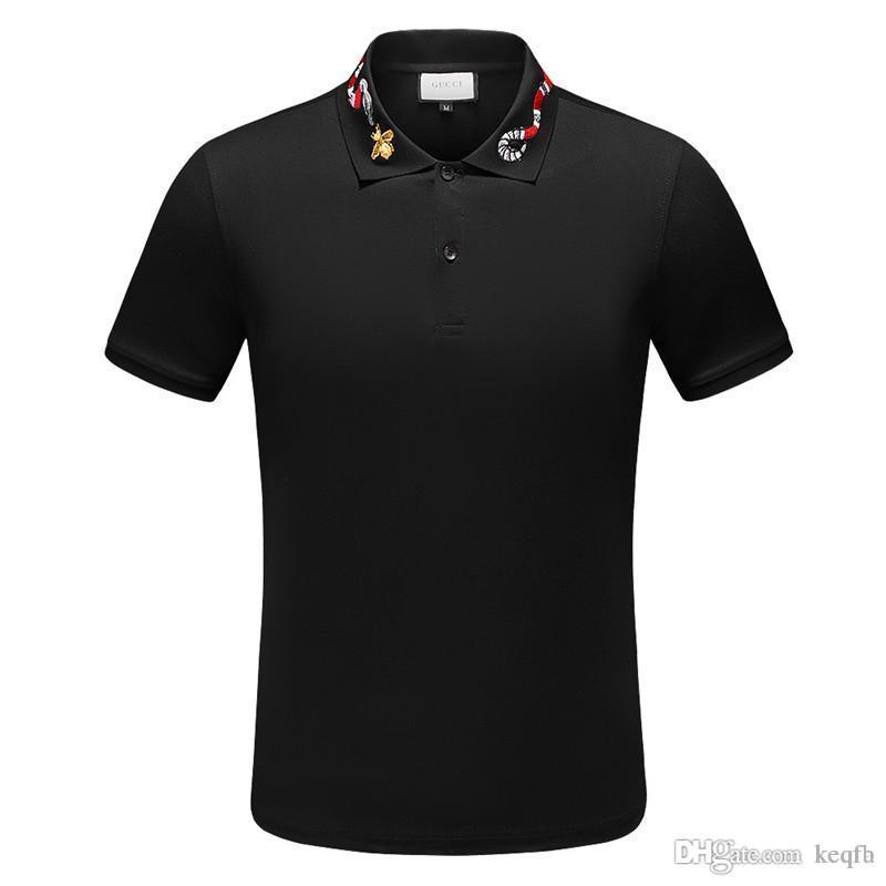 POLO-Hemden Mensentwerfer t-shirts Mode-Marken-Kleidung Hülse kurz calssic LUXURY T-Shirt-Qualitäts-Geschäft-beiläufige Oberseiten-T-X-3XL