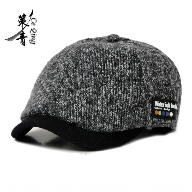 nouveau féminin automne hiver canard Béret hommes chapeau de laine coréenne beretand et DseEs universels beret chapeau de langue beretwool avant