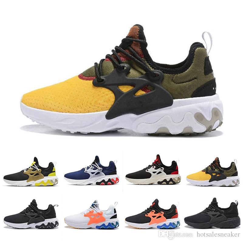 cheap prices brand new cheap for sale 2019 Hot React Presto Men Women Running Shoes Triple Black Rabid Panda  Breezy Thursday Brutal Honey Prestos Mens Trainers Sports Sneakers Trainers  ...