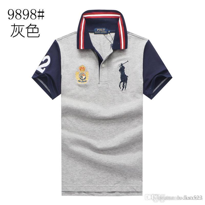 fashion mens ralph polo shirt lauren brand men polos Business Leisure t shirts summer Breathable polos shirt fashion classic polo shirt