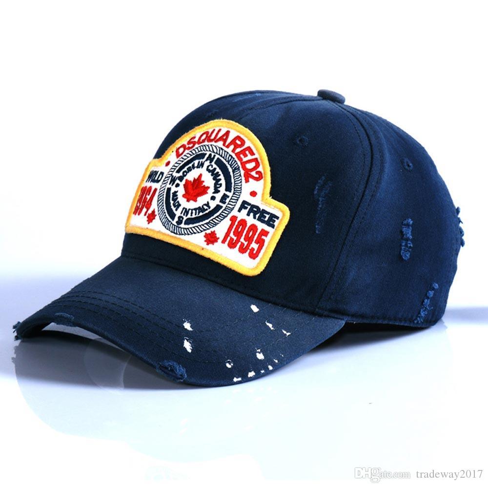 Nueva tapa d2 icono popular gorras de béisbol de algodón Clásico Diseño bordado Cap Gorra para los hombres de Hip Hop al aire libre del sol del deporte del papá gorras de camionero