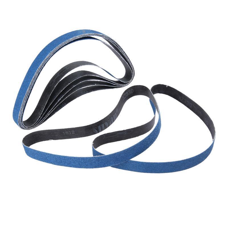 FANLLOOD Cintur/ón abrasivo 10Pc 25x762mm Correa de lijado abrasivo para lijadora de banda de aire Pantalla de lijado de /óxido de al/úmina 1 pulgada x30 pulgadas para metal con grano 60 80 120,120