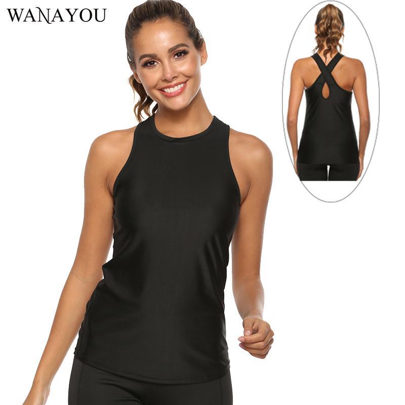 Mulheres Yoga Top Sports shirt, sem mangas Correndo Yoga Shirt, respirável Workout Gym Fitness Formação Vest Shirt