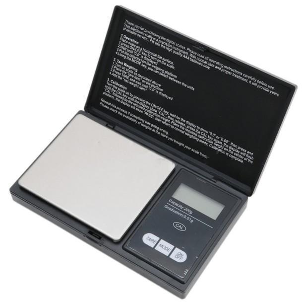 ميني جيب مقياس رقمي 0.01 س 200G عملة فضية وزن الذهب والمجوهرات مجوهرات دقيقة موازين LCD مقياس عالية الدقة مطبخ