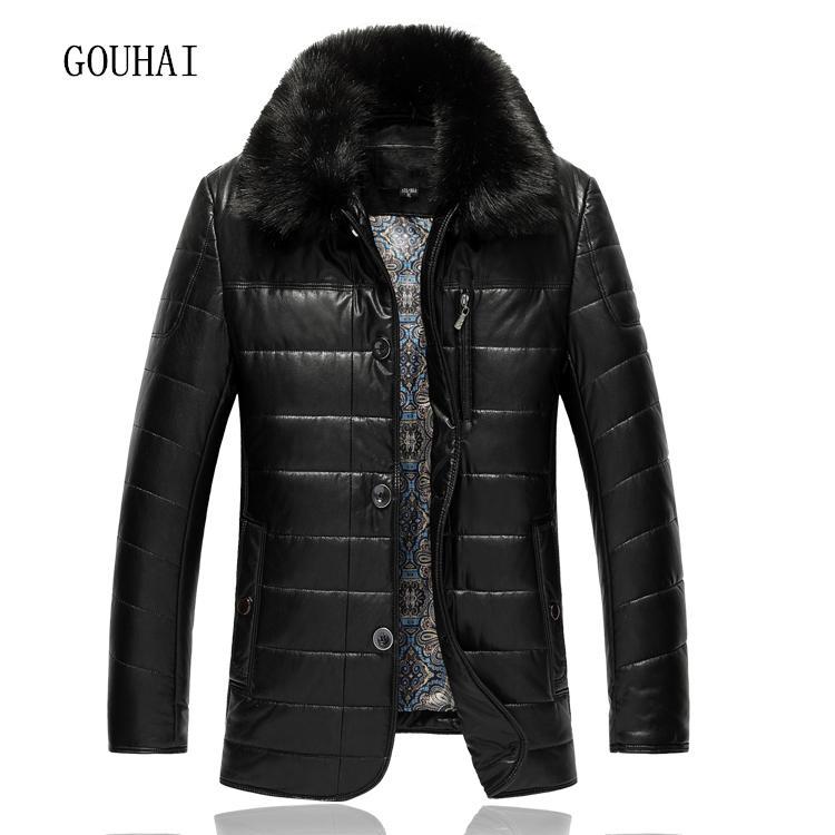 XL-9XL cuello de la piel Casual chaqueta de cuero para hombre de la capa sólida de la chaqueta para hombre de 2020 hombres del invierno chaquetas de cuero de Male Plus Tamaño de calidad superior