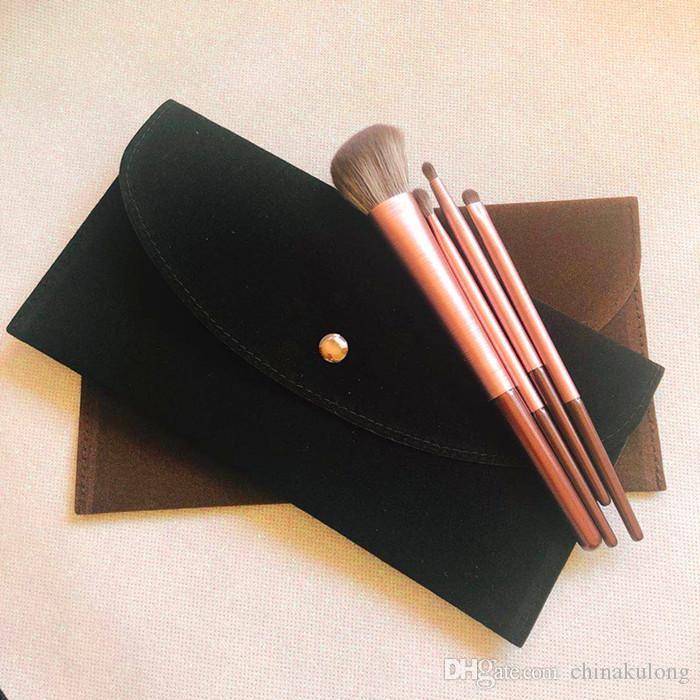 almacenamiento de terciopelo almacenamiento cepillo bolsa de maquillaje cosmético del bolso de terciopelo complemento de almacenamiento 23cm * 13cm pequeñas bolsas