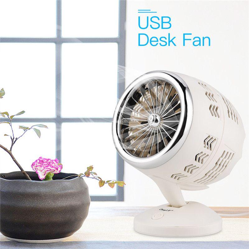 2 Hız Mini USB Masaüstü Fan Gürültü Moda Masa Fan Ofisi Ev 51 Portatif Soğutucu Fan Ayarlanabilir Açılı Düşük Çift Katmanlı