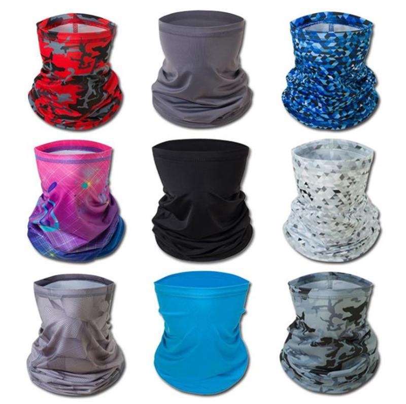 New Ice Silk Sunscreen Mask Summer Unisex Cycling Masks Multifunctional Outdoor Sports Dust Proof Windproof Head Scarf Sweat Towel DA423