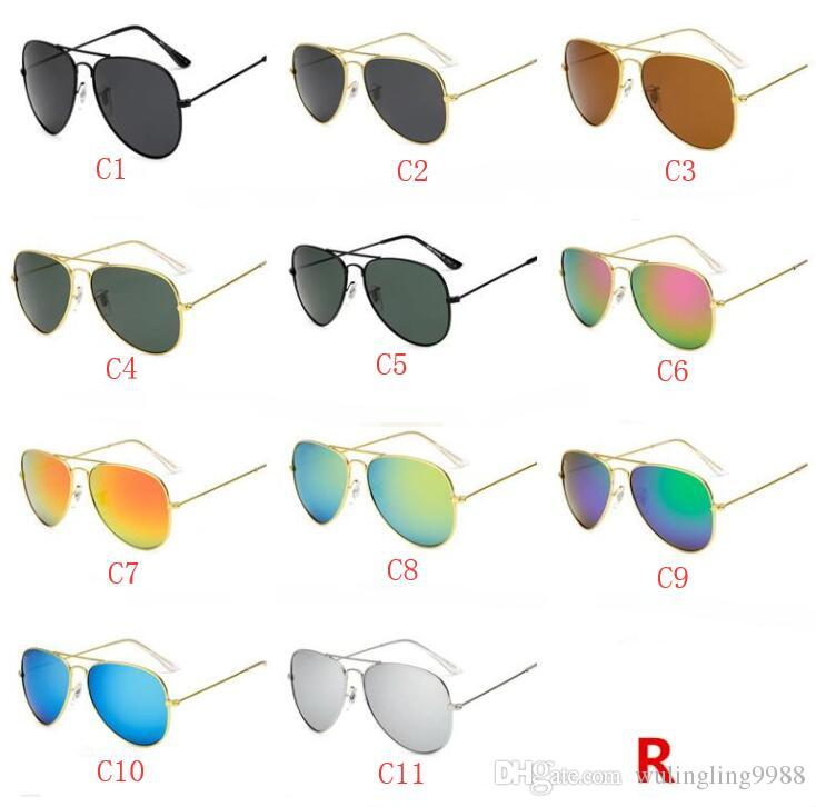 High quality Polarized lens pilot Fashion Sunglasses For Men and Women Brand designer Vintage Sport Sun glasses