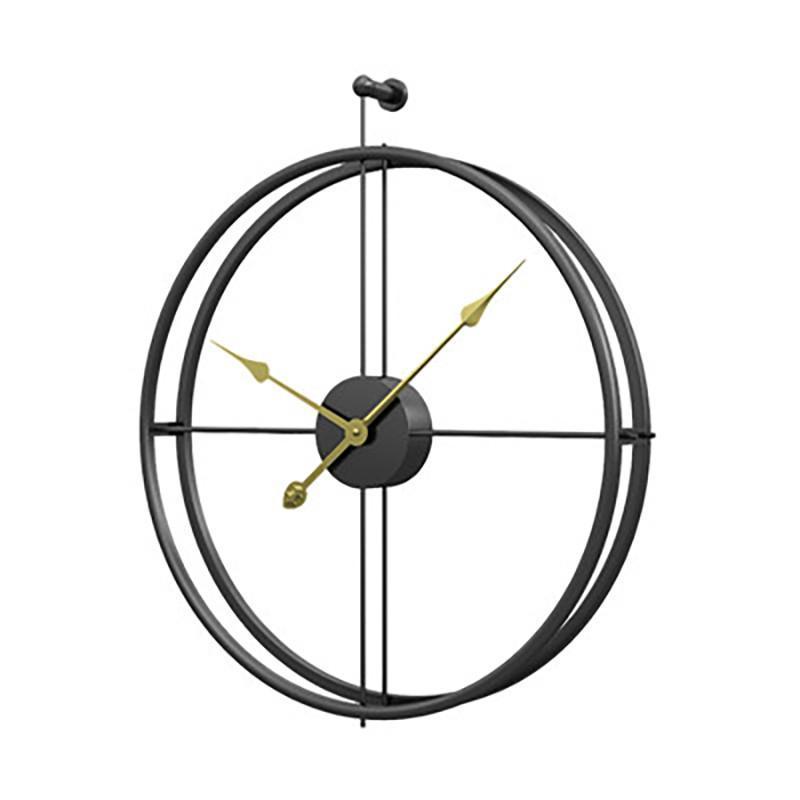 Forjado Lron reloj de pared Oficina de la decoración del hogar grande relojes de pared montado en Mute reloj europeo del diseño moderno colgantes Relojes