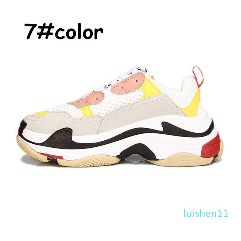 2triple de chaussures de créateurs de chaussures de sport pour les hommes plate-forme noir blanc gris rose rouge femmes formateurs hommes mode chaussures casual papa taille 36-44 L11