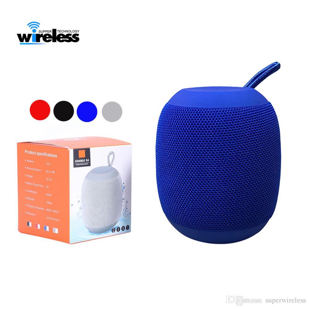 G4 portátil falantes sem fio Bluetooth Speaker externas bateria recarregável Suporte Micro-SD TF com Mic porta de 3,5 mm para o telefone moblie