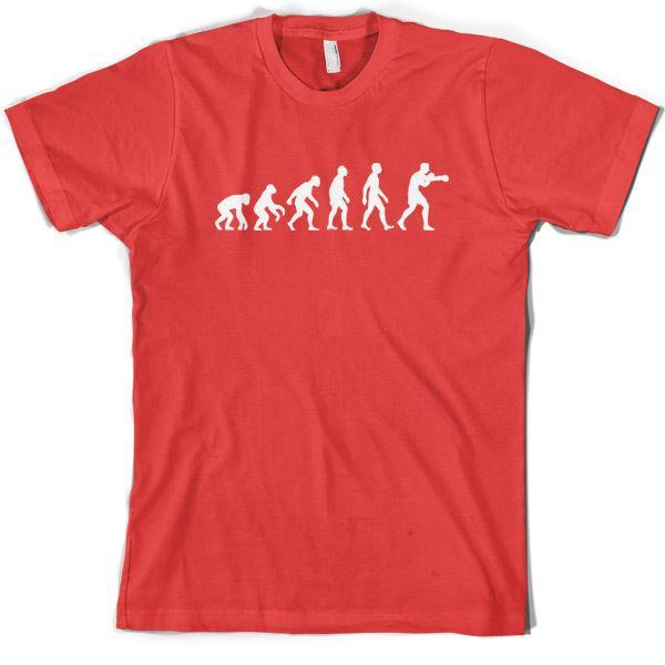Evolution Of Man Boxing Mens T Shirt Gift Boxer Clothing 10 Colours S XXL Custom T Shirts T Shirt Printing From Jie21, $17.25| DHgate.Com