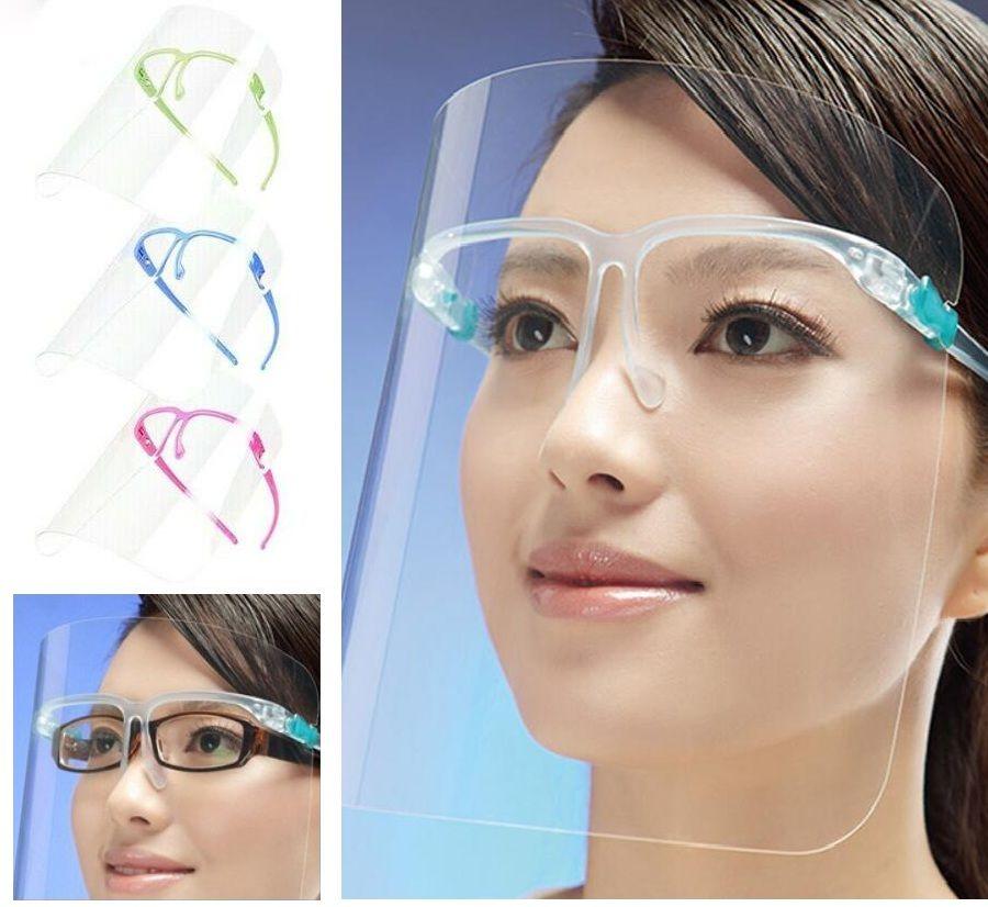 Bouclier de haute qualité bricolage transparent transparent 5 couleurs anti-poussière anti-poussière Spatcher brouillard mazout huiler-splash protecteur visage masque visage