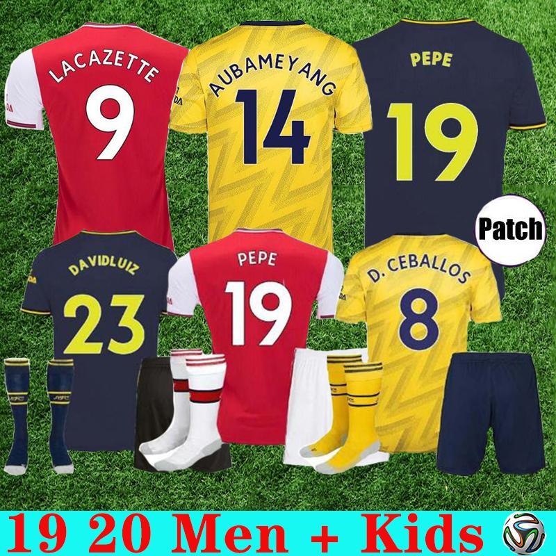 19 20 arsen Men + Kids Kit Sets Uniform Fußballjerseys-Fußball Shirt Fußball-Tops