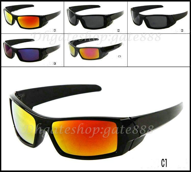 10 stücke Sommer Klassische Stil Herren Sonnenbrille Neue Farbe Sonnenbrille Schwarzer Rahmen Acryl Flammenobjektiv Gute Qualität Freies Verschiffen