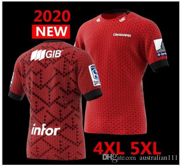 판매 저지 큰 크기 S-5XL 럭비 최신 2020 뉴질랜드 슈퍼 럭비 유니폼 십자군 홈 저지 리그 셔츠 십자군