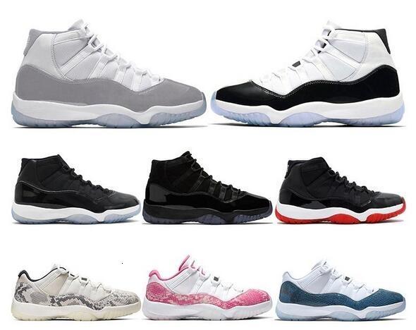 2019 hommes Chaussures de basket-11s SNAKESKIN Concord 45 VAST GRAY 23 GAMMA BLEU 11 Bred formateurs espadrille sports pour femmes Taille US 5,5 à 13