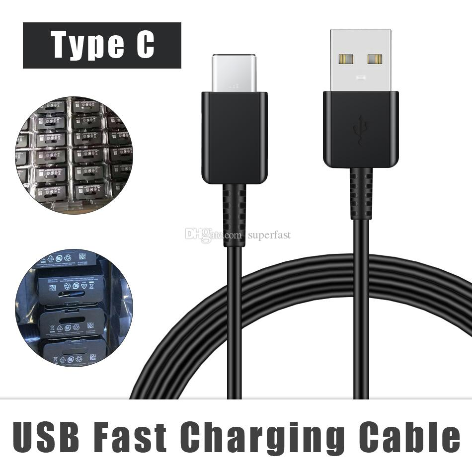 NEW Note 10 S10 USB C Cable Type C Cable 1.2M 2A FAST Charger Cord for Samsung Galaxy s10 S10E S10 Plus S9 S8 Plus Note 10 plus