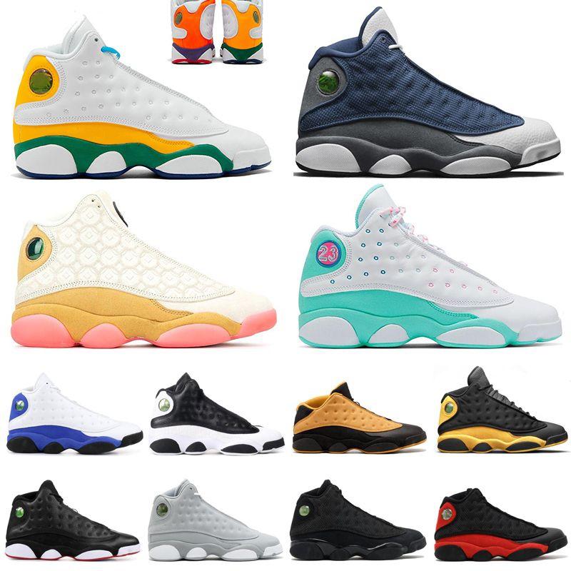الجديدة 13 13S أحذية الرجال لكرة السلة المحكمة PURPLE محظوظا الأخضر تحديد لحظات CP3 المنزل الذئب الرمادي أحذية رجالية رياضية أحذية رياضية المدربين